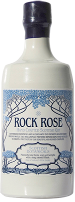 Rock Rose Gin was first distilled in August of 2014. It is a product of Dunnet Bay Distillers and is presented in a was-dipped ceramic bottle.