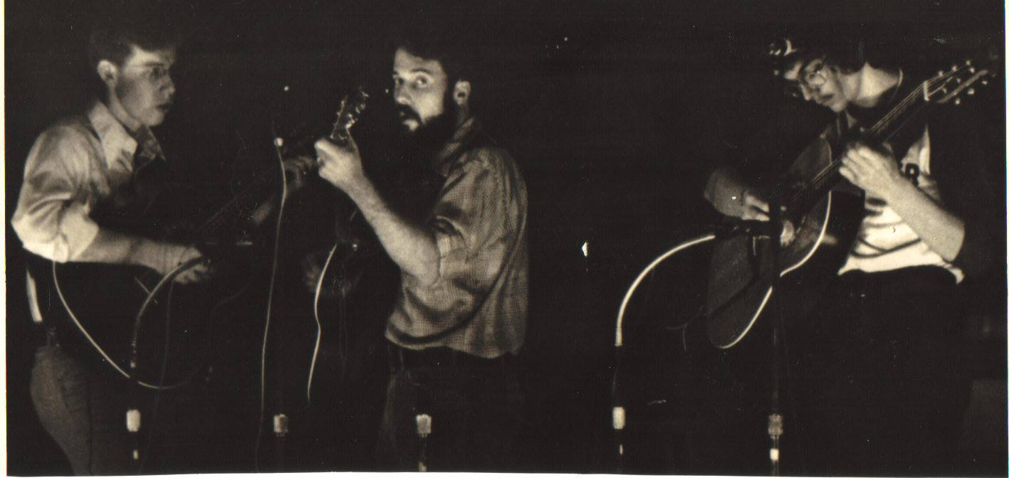 "1975 performing as ""Laughter"" (l-r) Dudley-Brian Smith, co-founder Dwight Beebe and Brian Mead. Photo by Charles Waters"