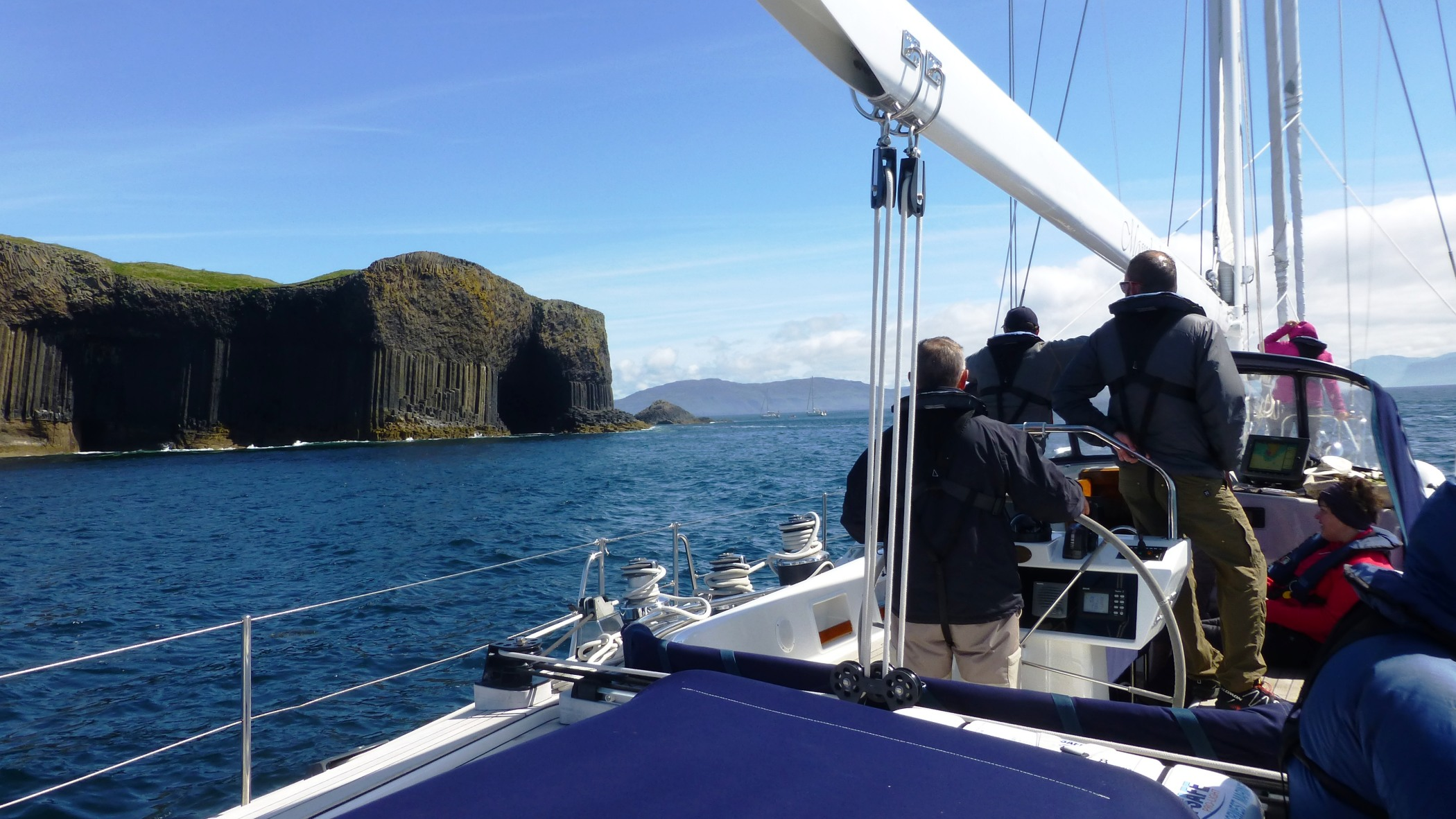 A sailing holiday will give you an entirely new and different perspective of Scotland. Staffa © Moonshadow Yacht Charter Ltd