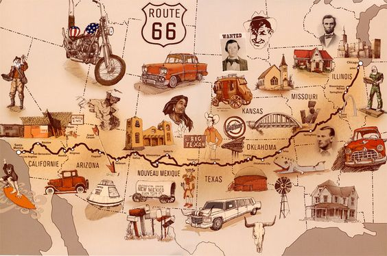 Route 66 map from thebonvoyageblog.com