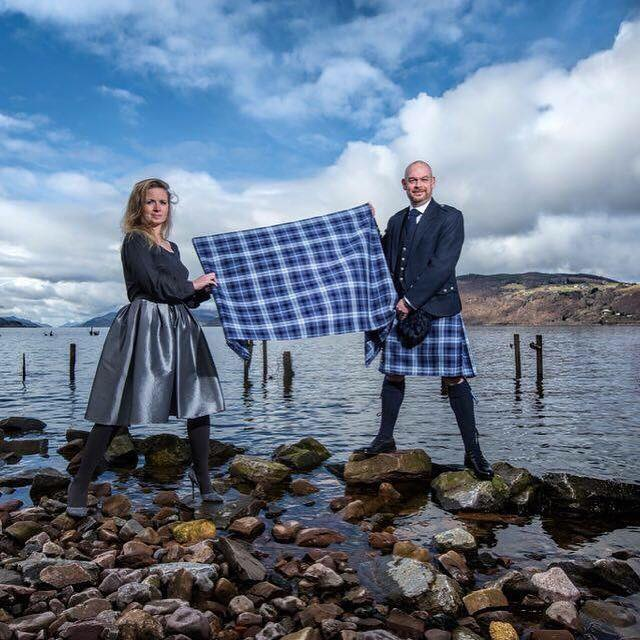 See the links below to read the story of designer Prickly Thistle and the Loch Ness Water tartan.