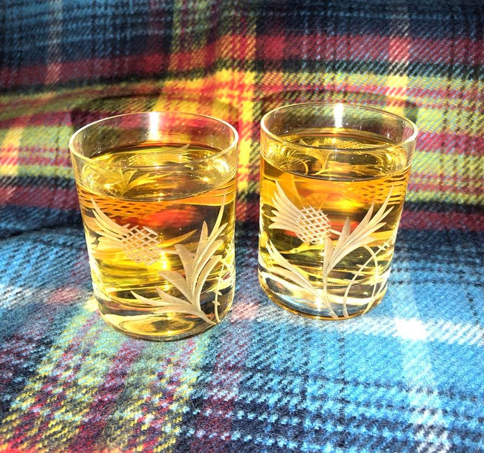 Flower of Scotland Whisky shots
