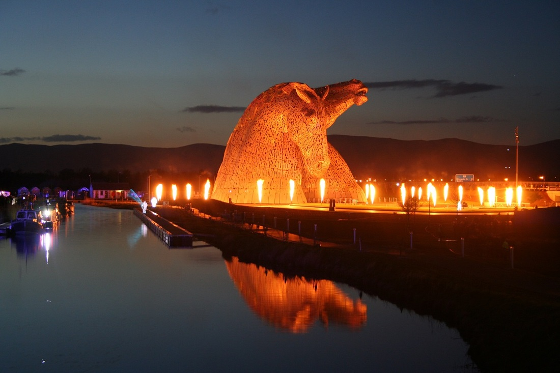 The Kelpies. Photo courtesy Susanne Arbuckle/   www.adventuresaroundscotland.com