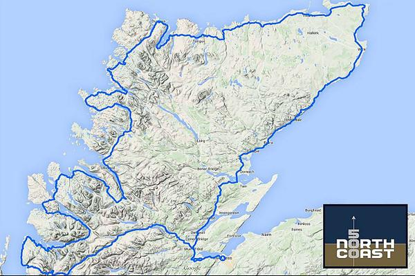 The North Coast 500 is a 516-mile circular trip round the northernmost part of the Scottish mainland, beginning and ending in Inverness.