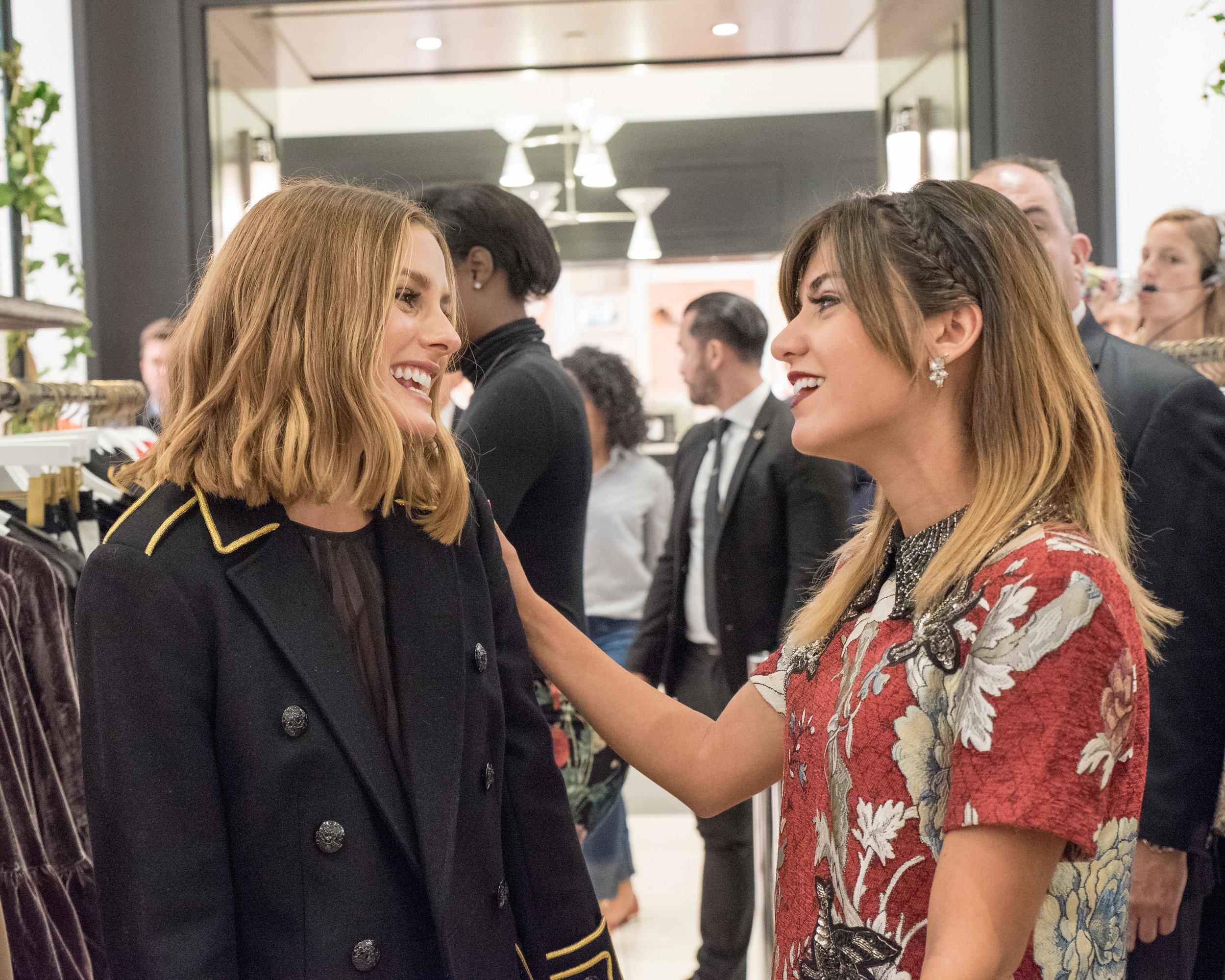 Fashion designer  Olivia Palermo  and style blogger  Gabriela Recalde