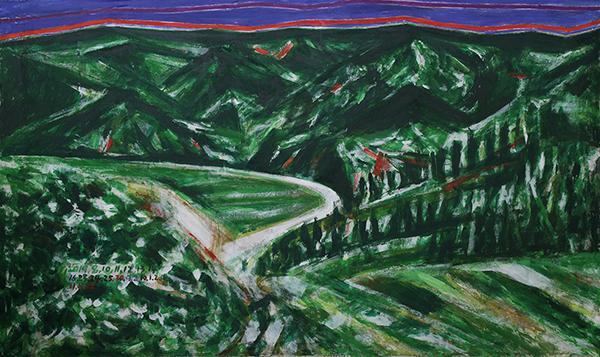 2017112883324_서용선 Suh Yongsun 두만강도문 일왕산에서 At  Ilwang Mauntain,Tumen Tumen Riverside ,156x267cm, Acrylic on Linen,2017.jpg