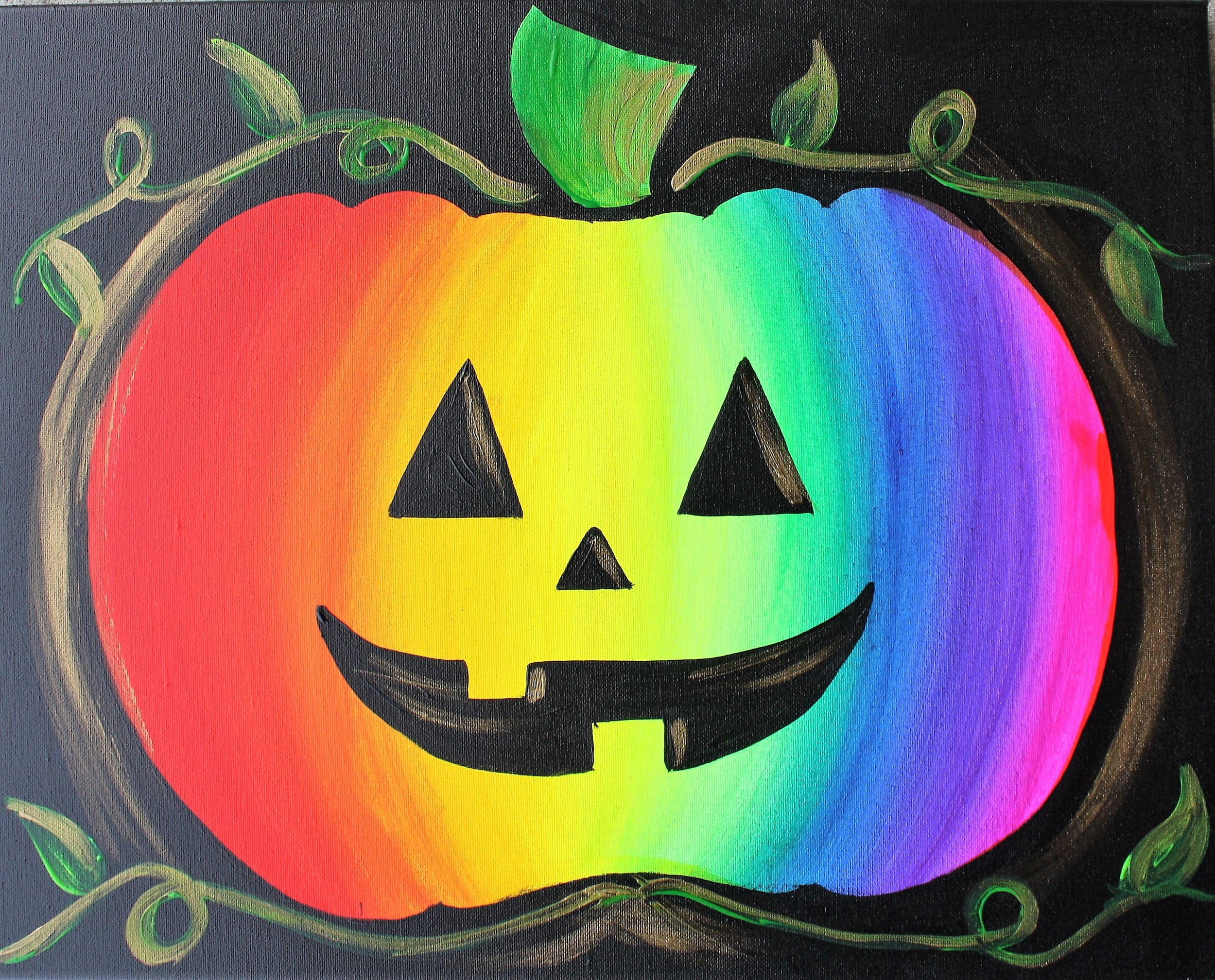 Rain-bow Jack-o-lantern - Ages 5-10 years old@1:00-2:30pm