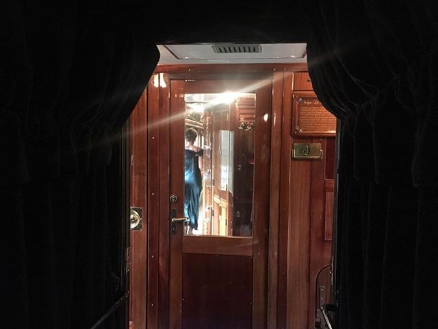 Ghostly figures on the Orient Express to Venice. Incredible journey.