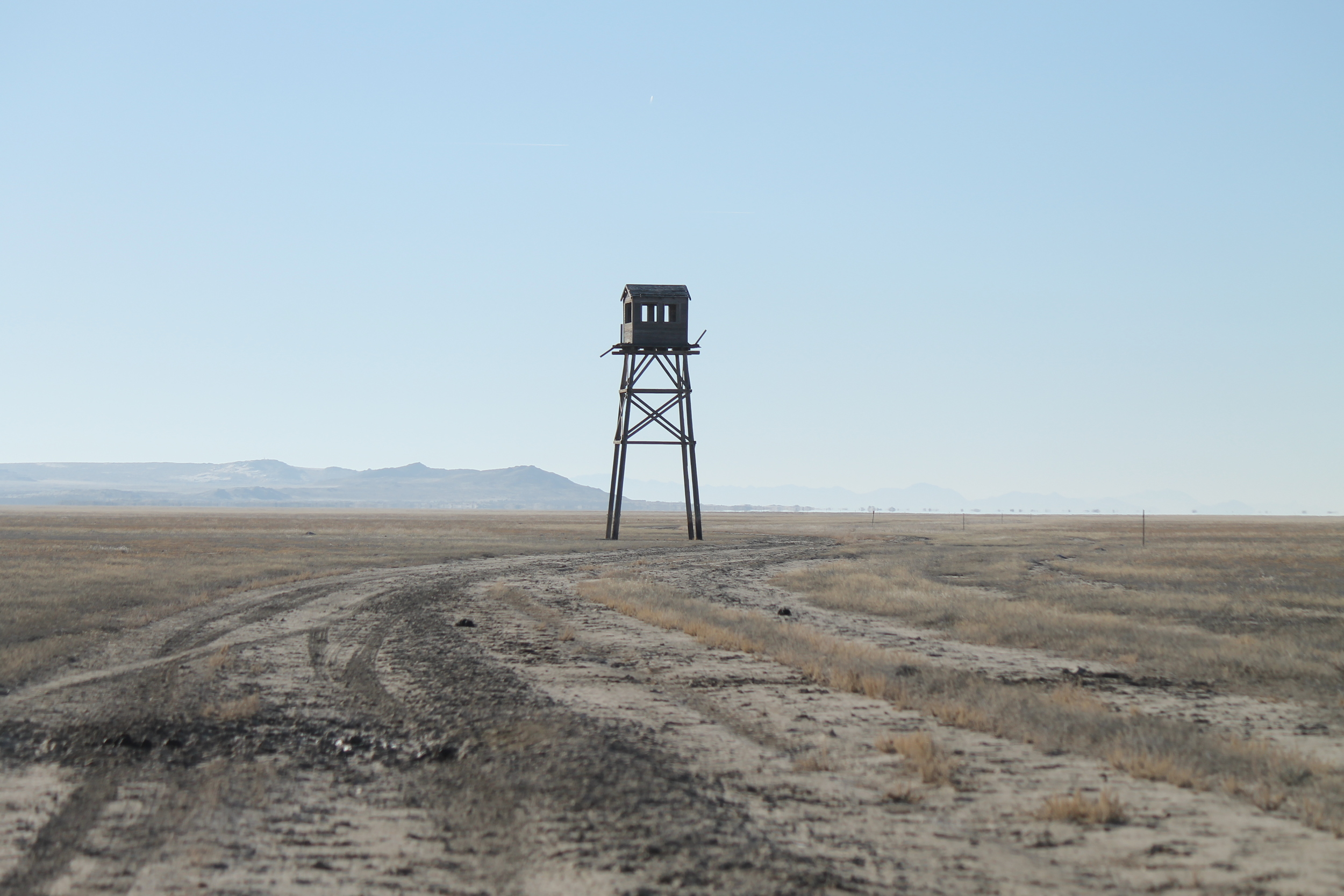 Old bombing practice range observation tower