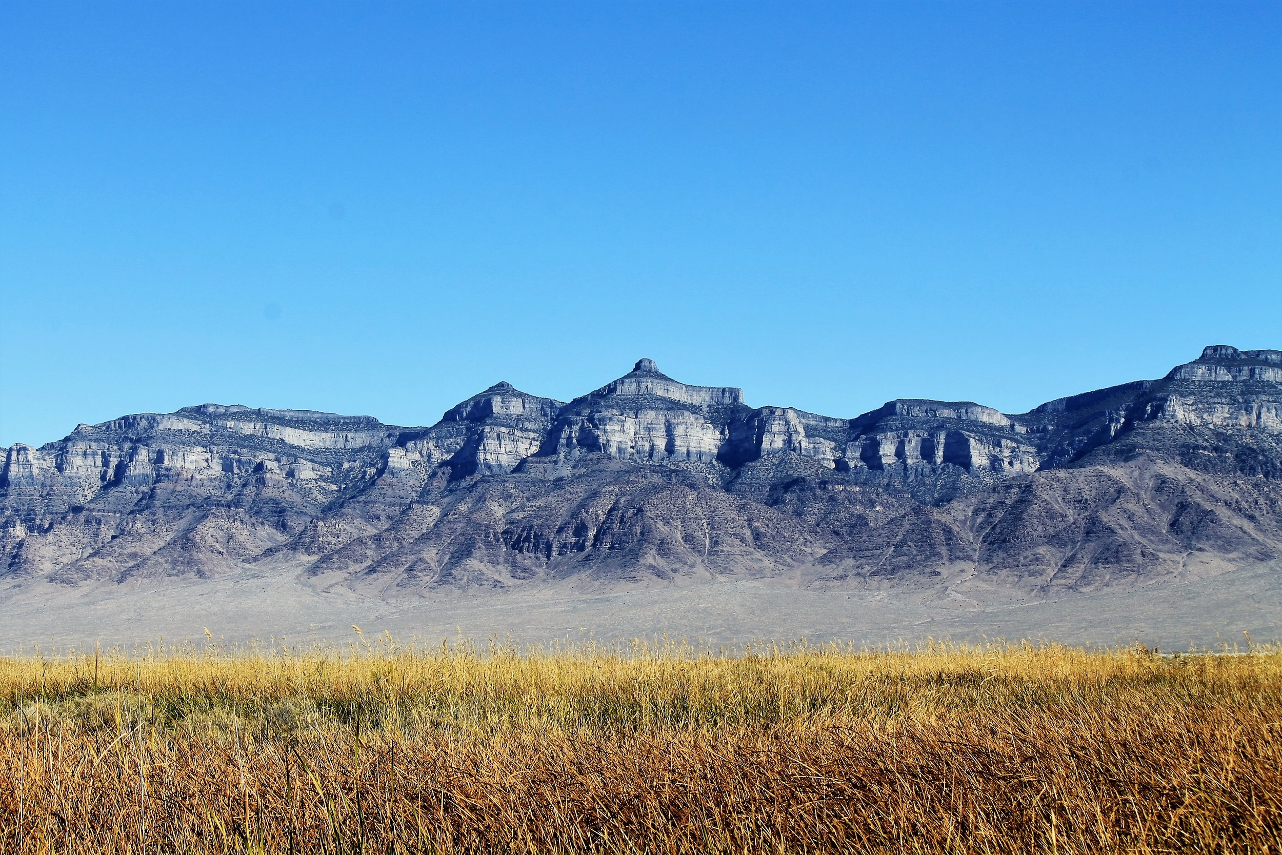 View of Tatow Knob (Swasey Mountain) above Coyote Springs