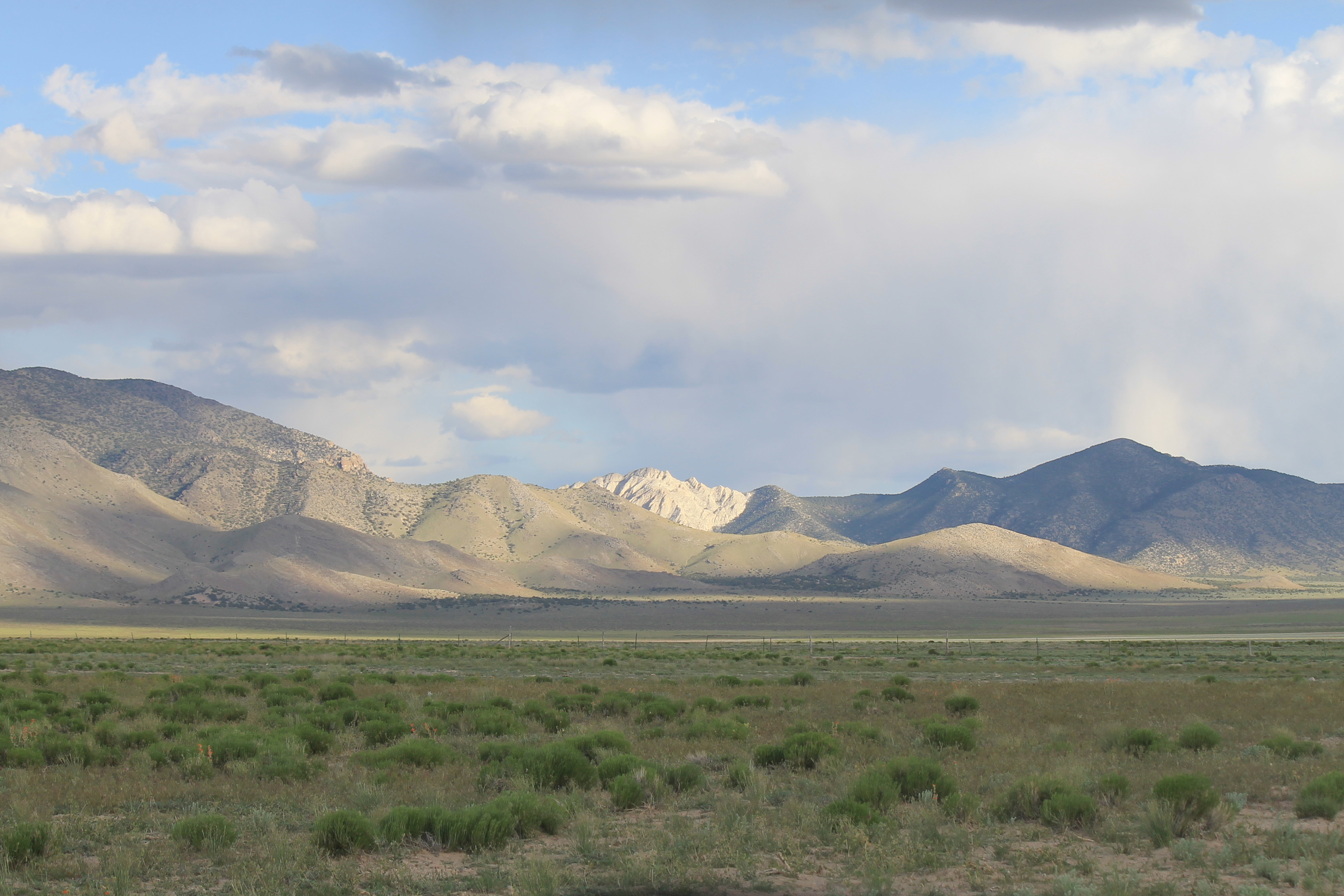 Crystal Peak in the evening sun from Ferguson Desert Road.
