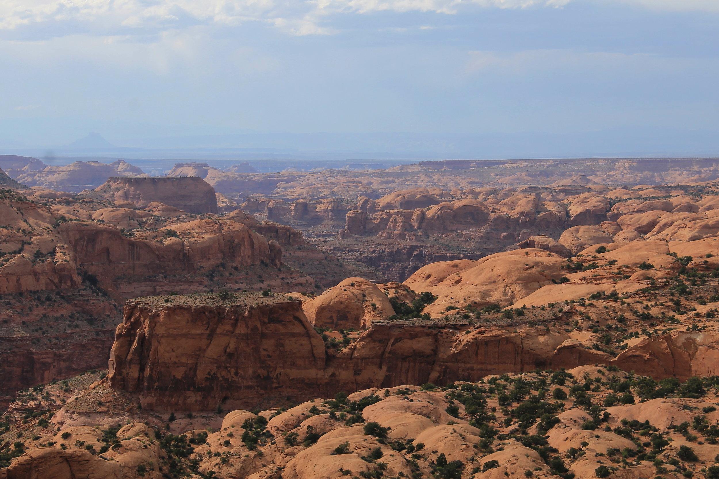 Across Sam's Mesa Box Canyon