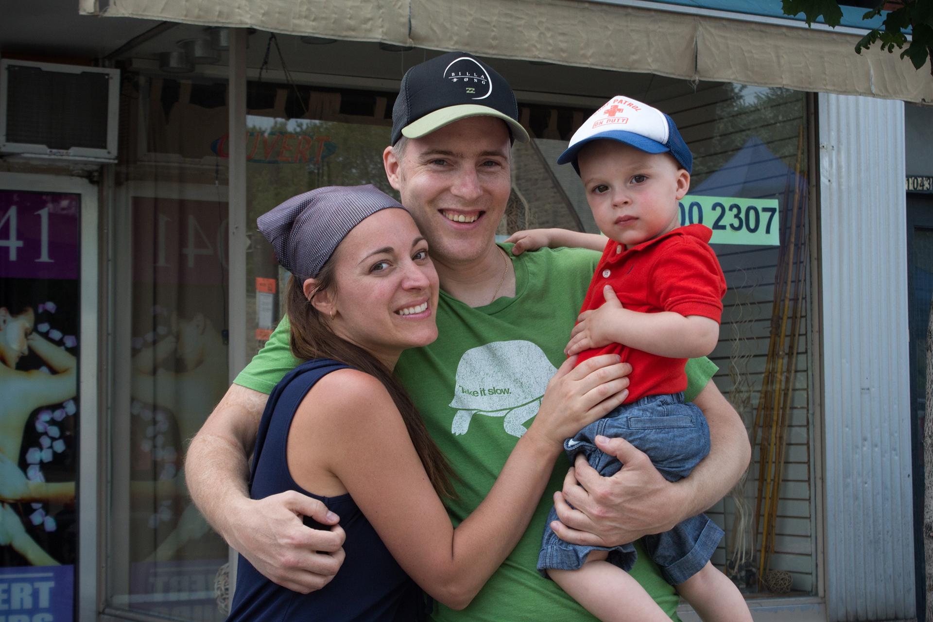 Sophie, Jacob et Jayden, rue Fleury est