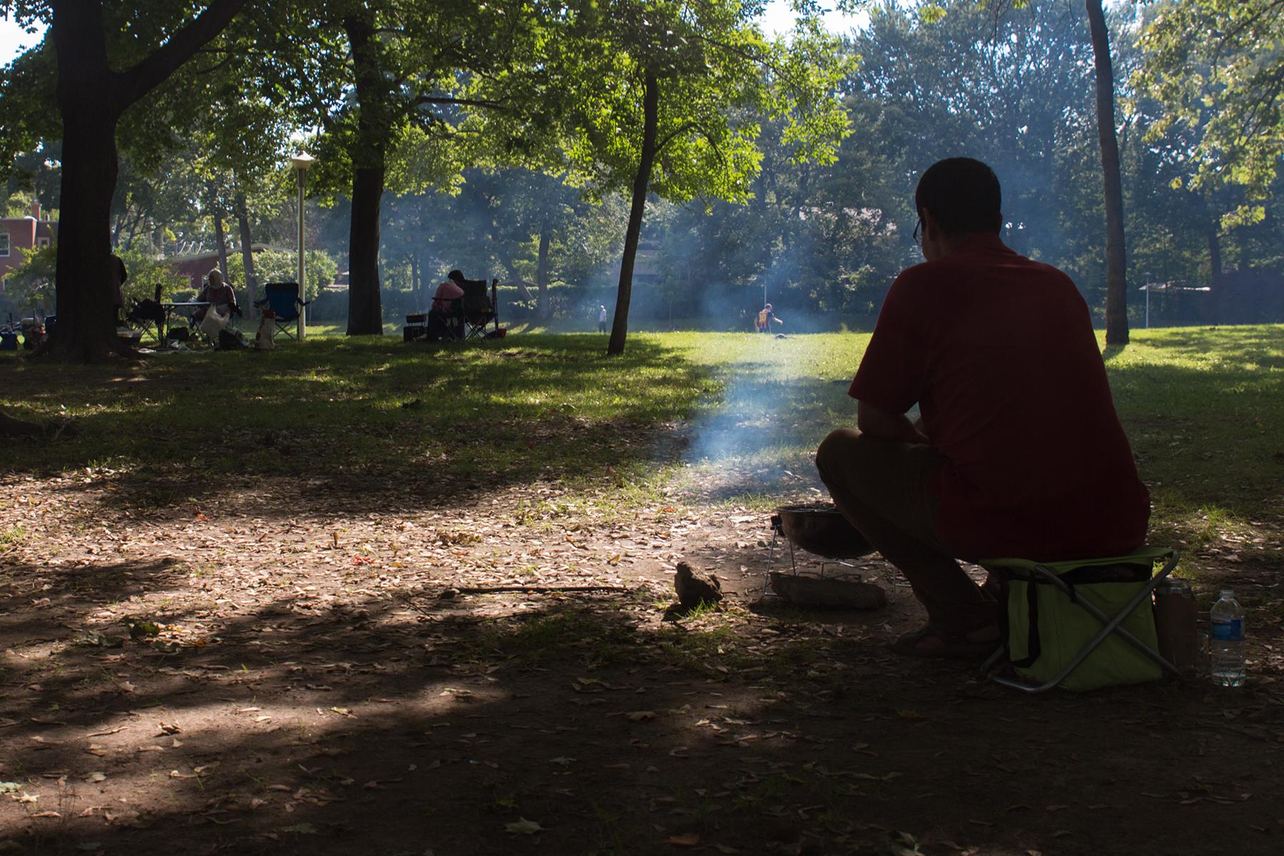Abdel B. au Parc Raimbault