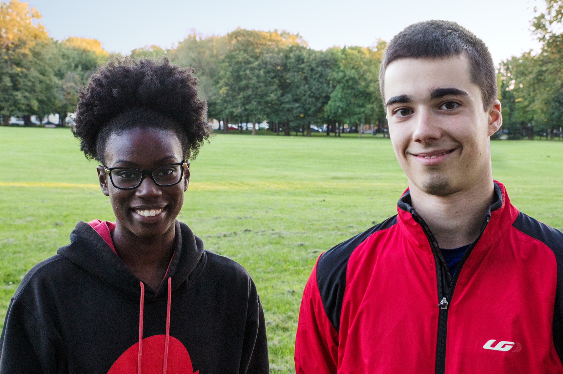Marie & Simon in the Ahuntsic Park
