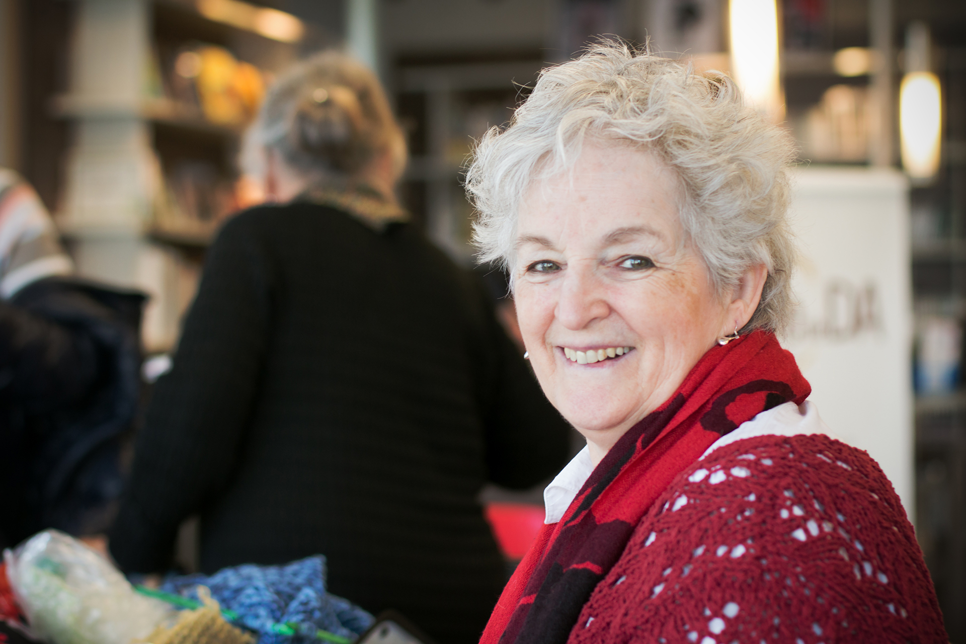 Jocelyne at the Café de DA