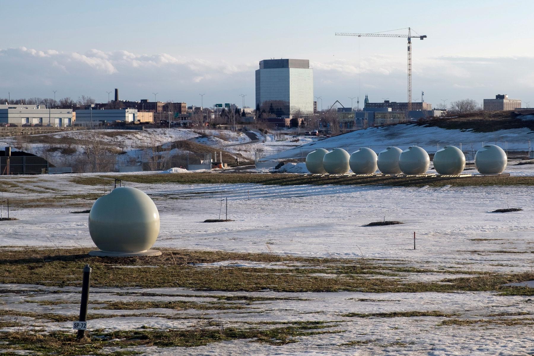 Le Parc Frédéric-Back commençait déjà à prendre forme l'hiver passé.