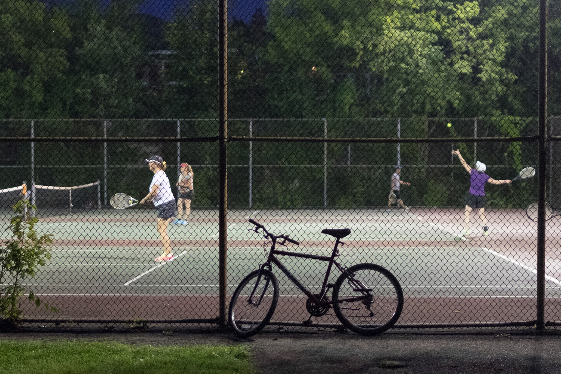 Le vélo d'un sportif, parc Nicolas-Viel, Ahuntsic