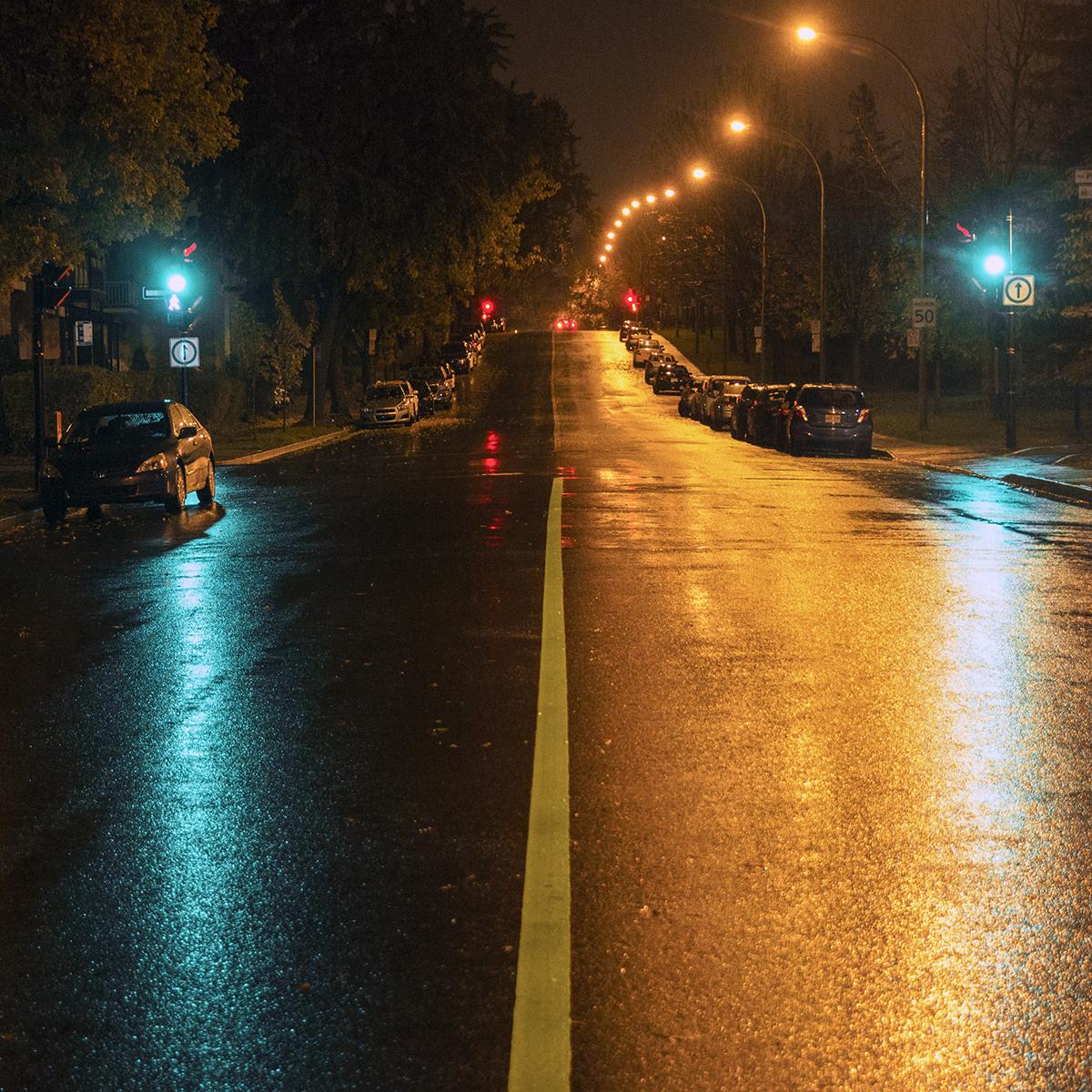 St-Hubert, rue bicolore