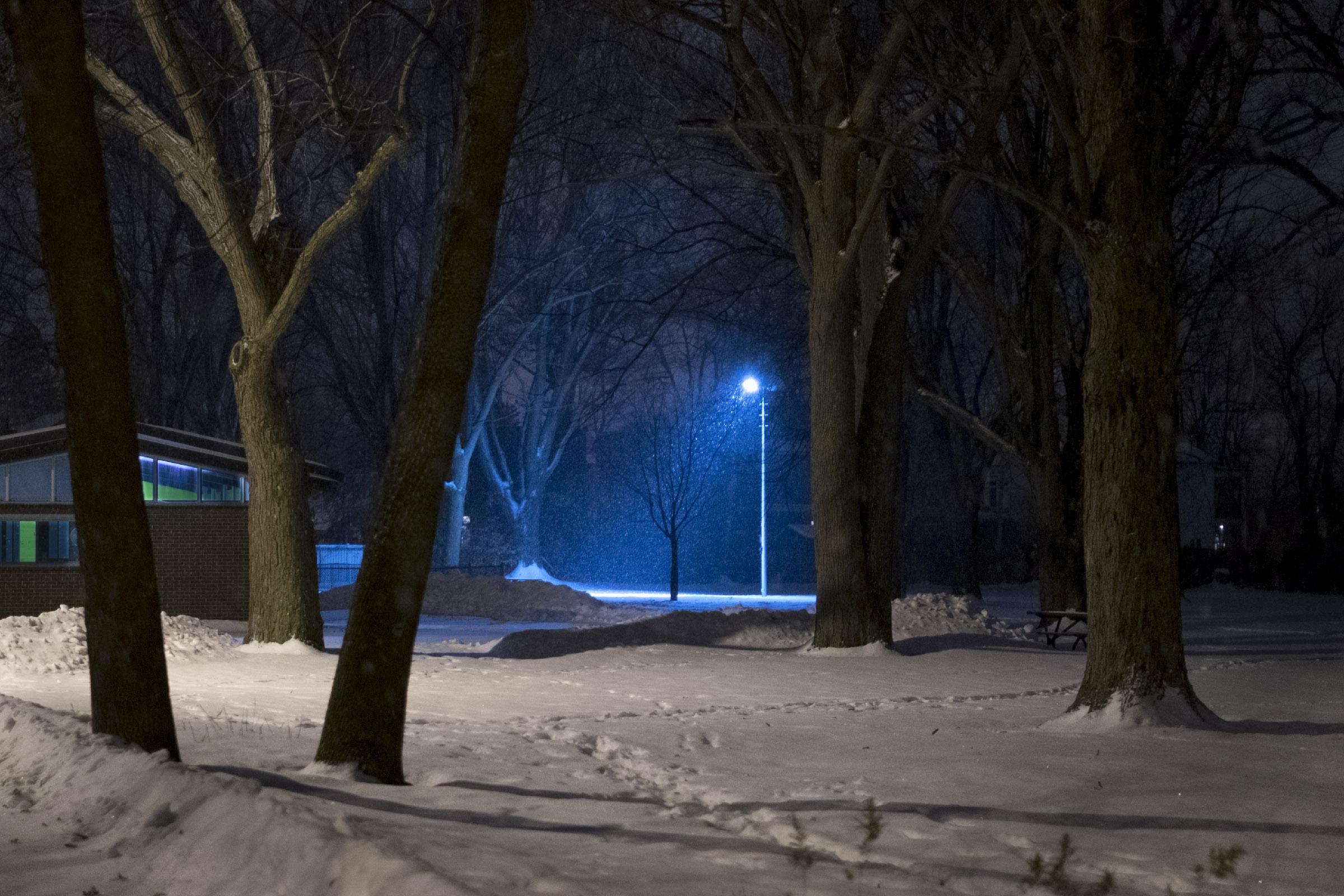 Lueur bleue, Parc Nicolas-Viel