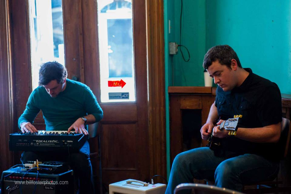 Ampient Music Collective members Jesse Wagner (left) and George Middlebrooks (right), Big Ears 2014, photograph by Bill Foster
