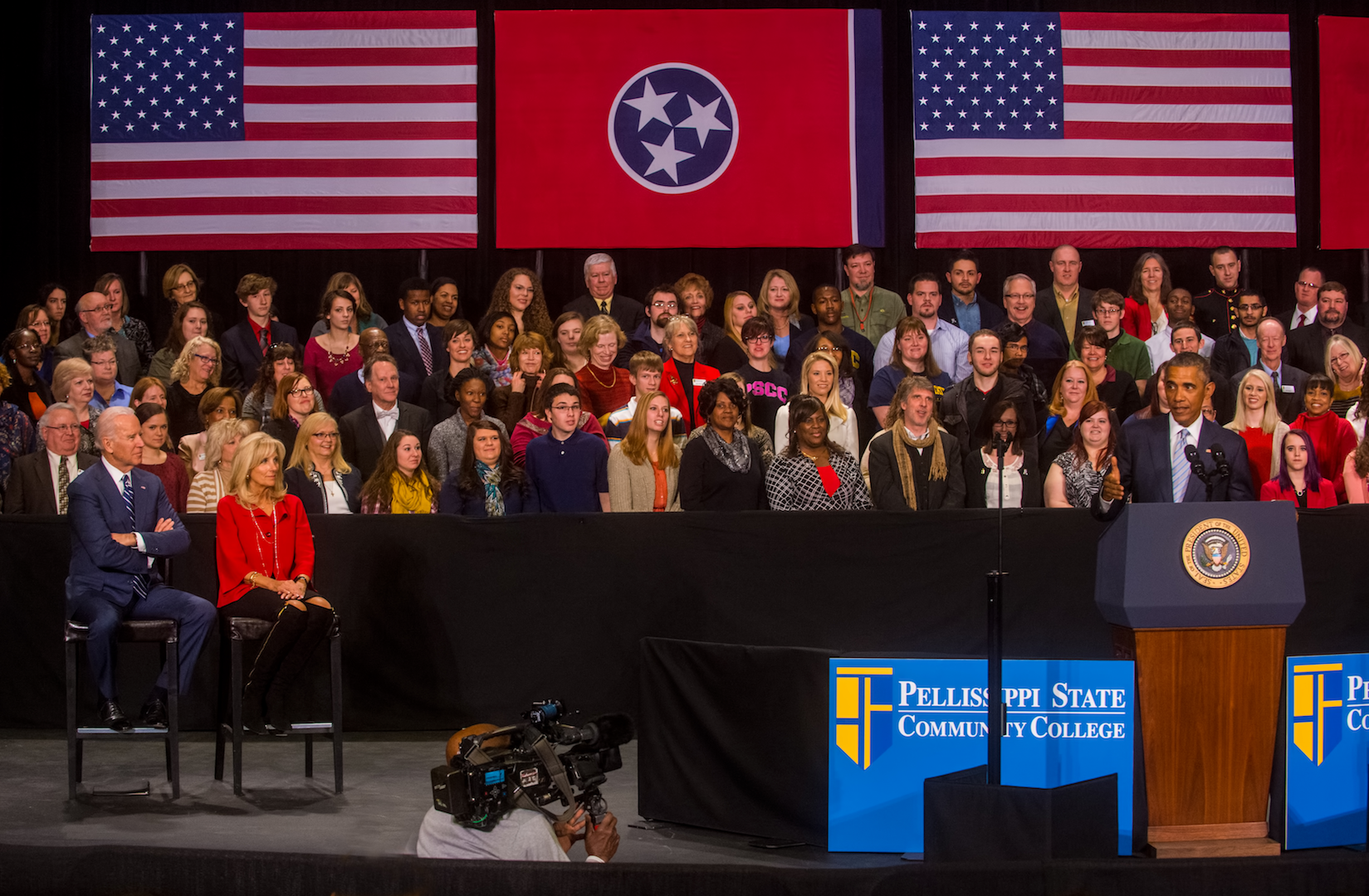 President Obama at the PSTCC campus in Knoxville, TN, photograph by Bill Foster