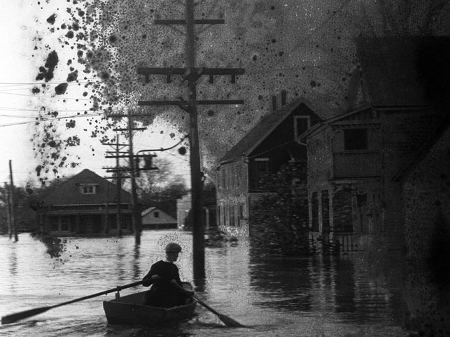 """Film still courtesy of Icarus Films from """"The Great Flood,"""" by filmmaker,Bill Morrison with music by avant-jazz guitarist,Bill Frisell spotlighting The Mississippi River Flood of 1927."""