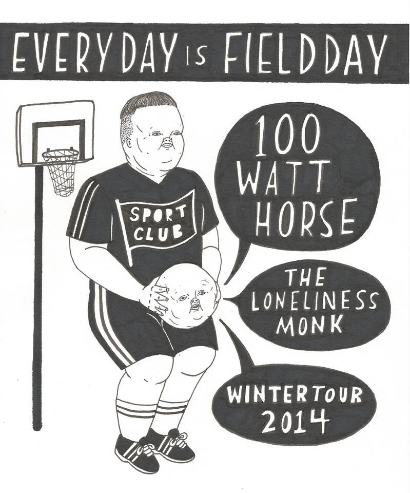 Tour poster courtesy of 100 Watt Horse
