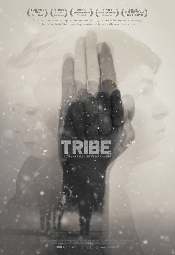 "Official movie poster for ""The Tribe,"" courtesy of Drafthouse Films"