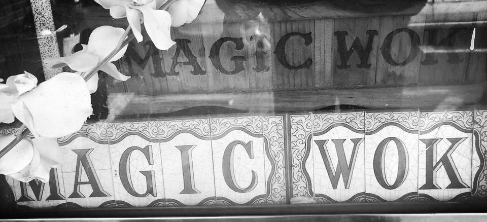 Window, Magic Wok (restaurant), photograph by Wil Wright