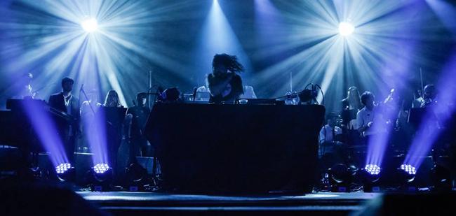 Michal Menert Big Band at the Fillmore Auditorium, Denver (2014), photograph by Drew Levin