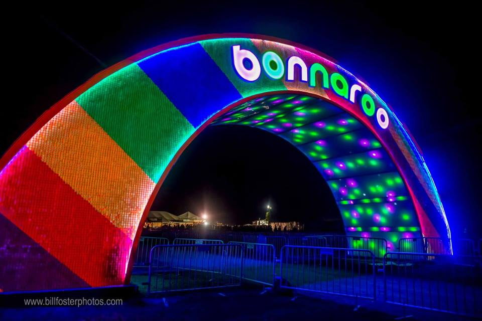 The Arch at the Centeroo entrance, Bonnaroo 2015, photograph by Bill Foster