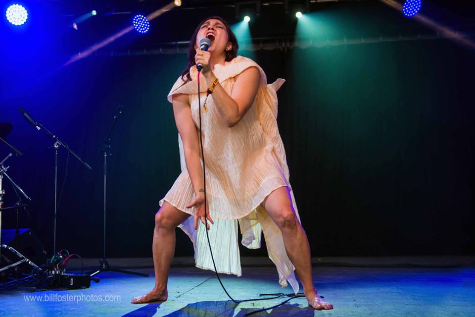 Tanya Tagaq at Bonnaroo 2015, photograph by Bill Foster