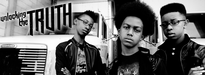 Unlocking the Truth: (from left to right)Alec Atkins, Malcolm Brickhouse and Jarad Dawkins, photograph courtesy of Unlocking the Truth management
