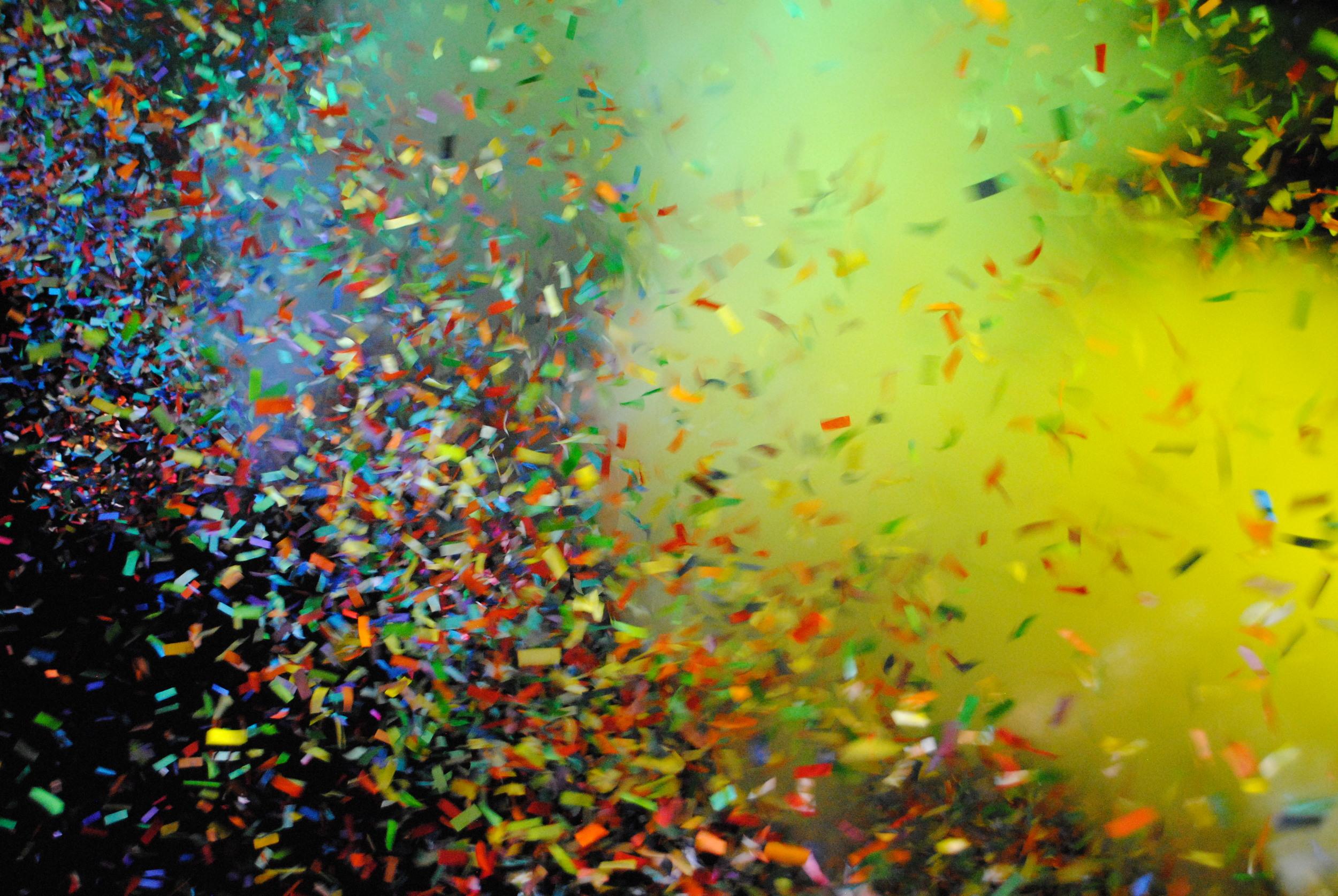 Confetti blast at Tame Impala, photograph by Liam McCarty (Bonnaroo 2016)