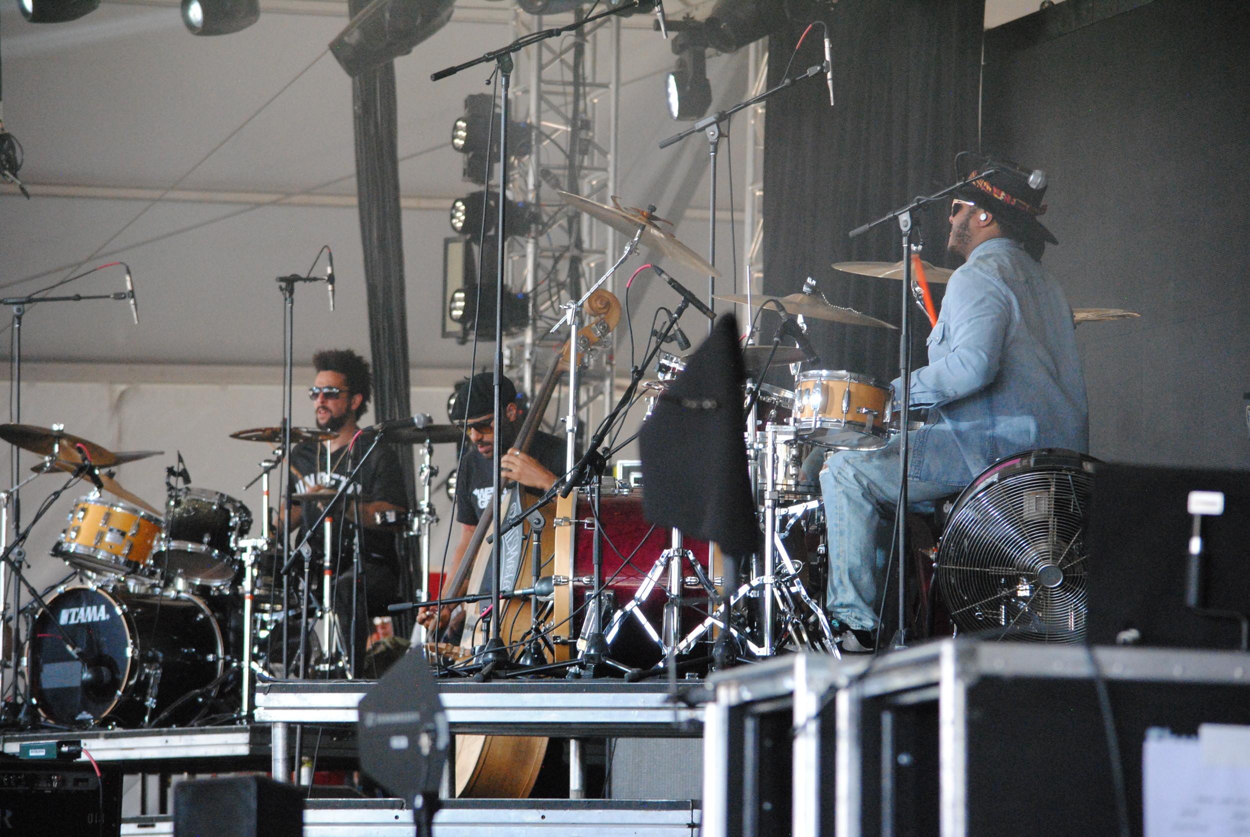 Kamasi Washington's band, The Next Step,  photograph by Liam McCarty (Bonnaroo 2016)