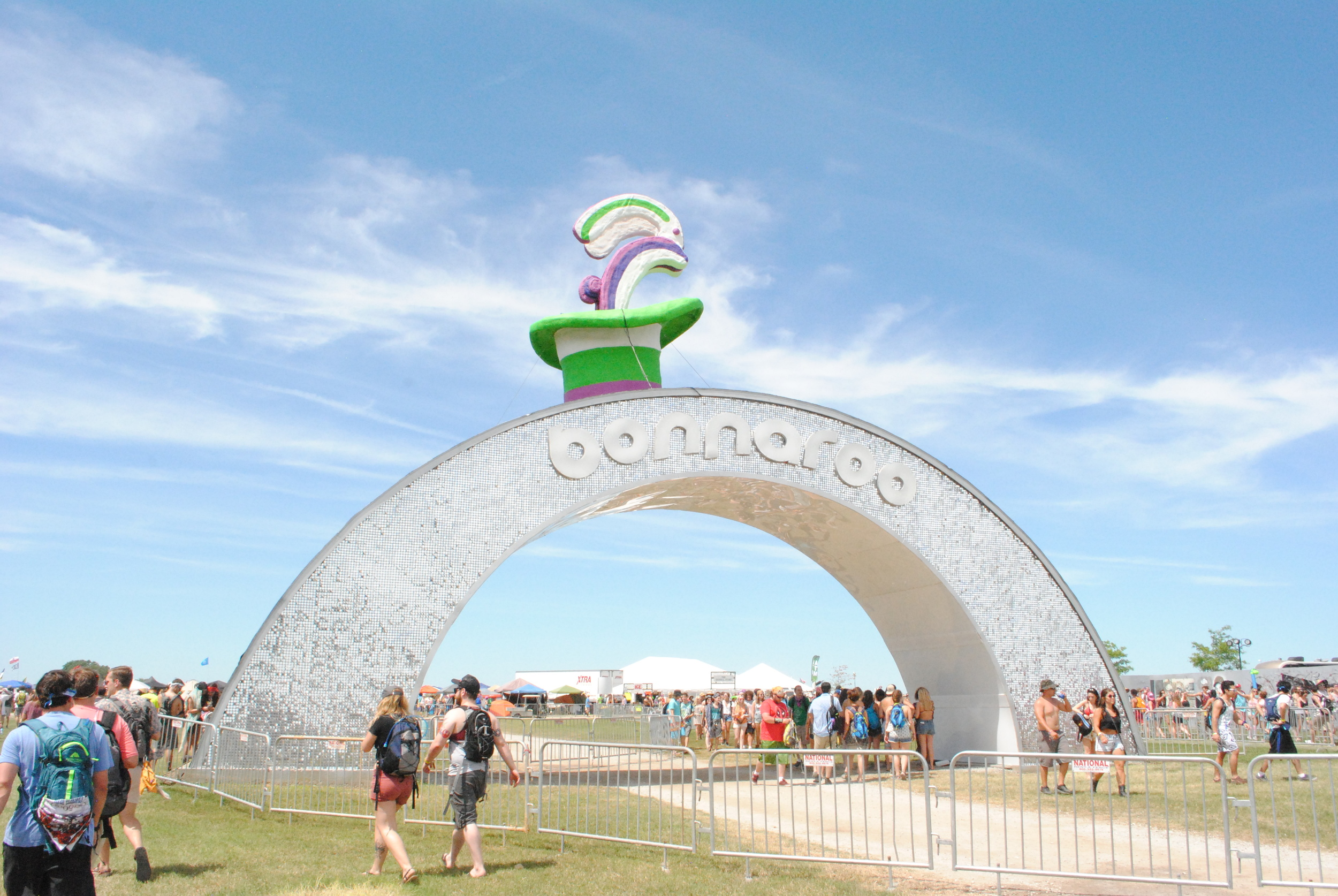 "Centeroo entrance for a very special ""15 years of magic,""   photograph by Liam McCarty (Bonnaroo 2016)"