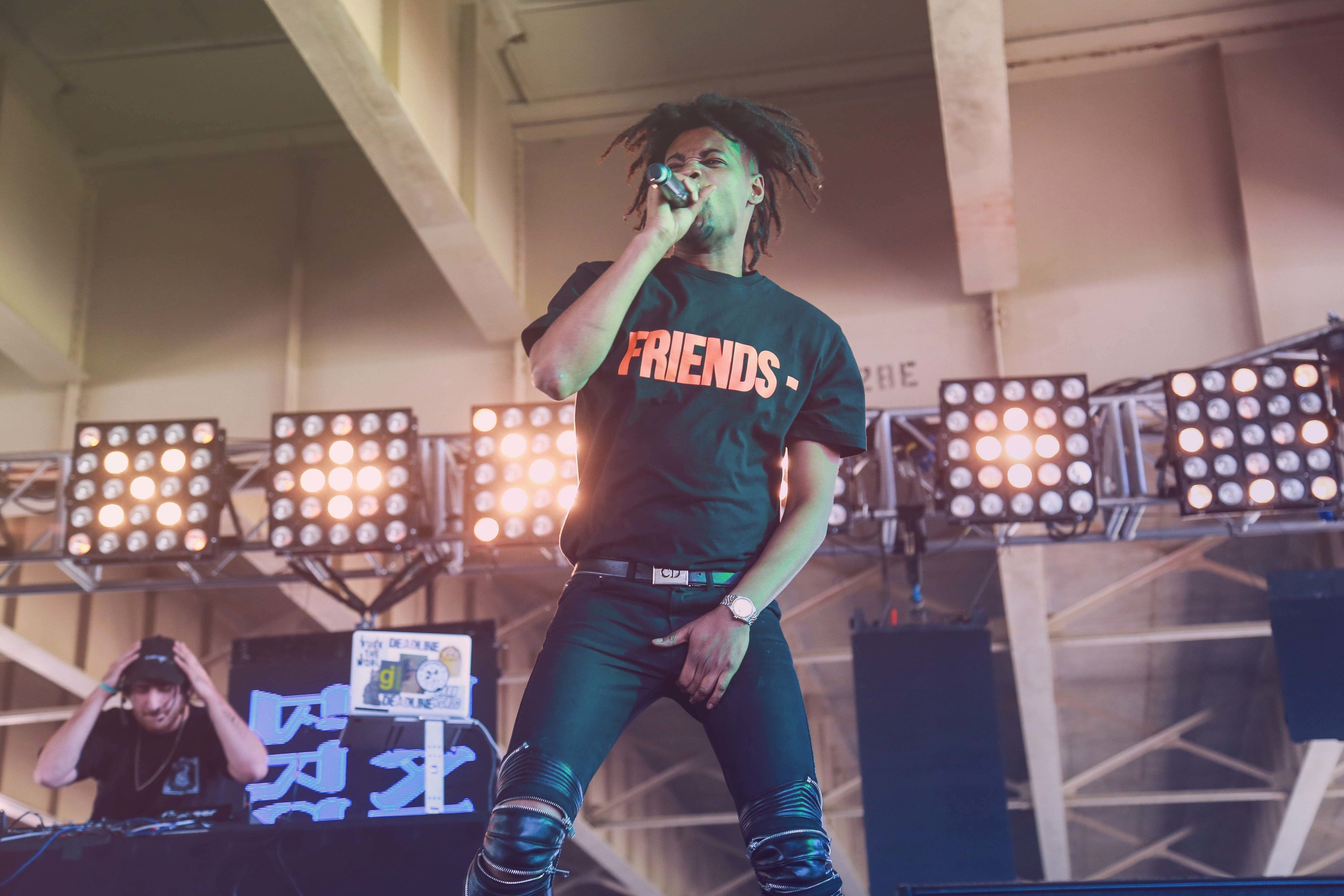 Danny Brown successfully riling up Forecastle 2016, photo by Fernanda Carpenter