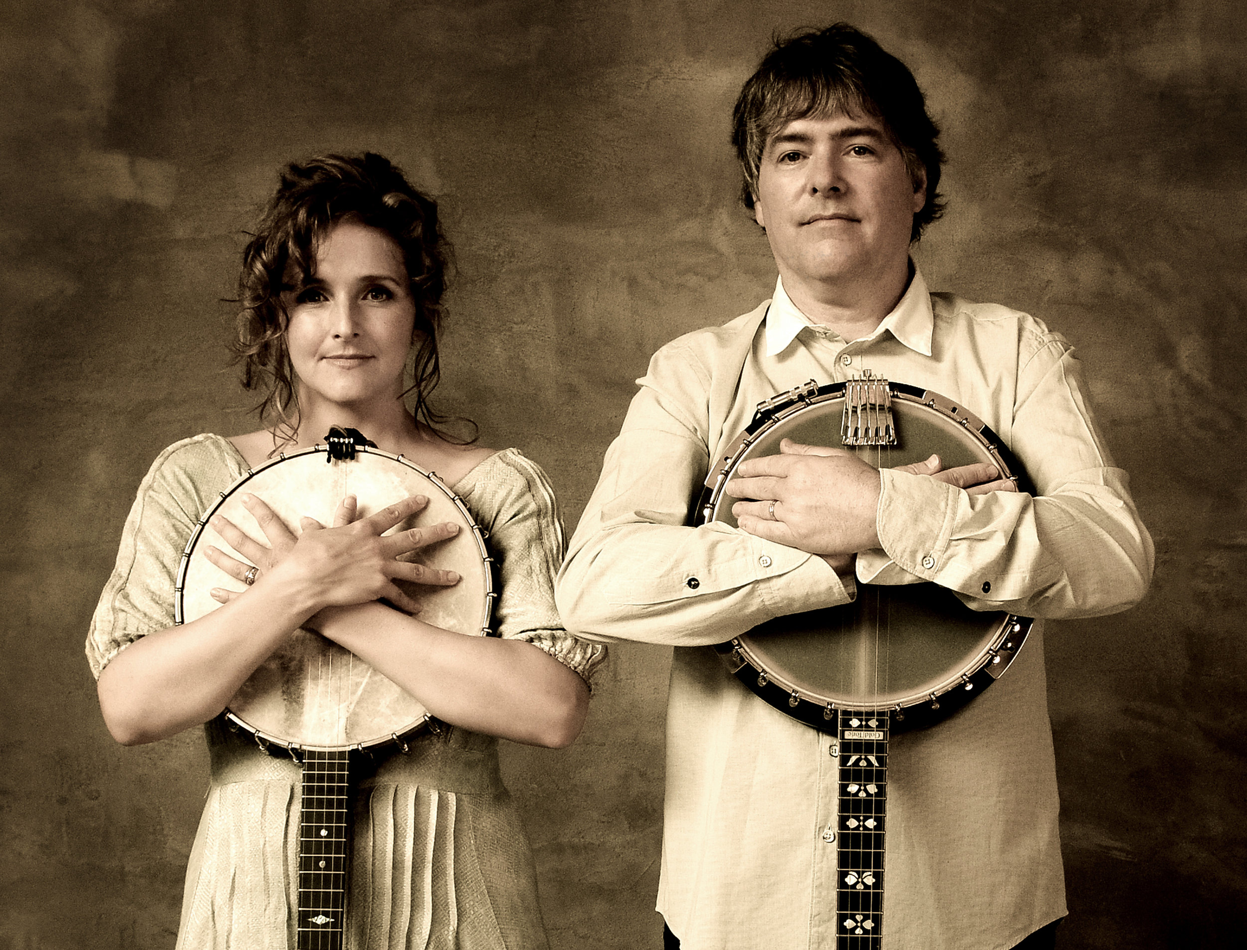 (Left to right) Abigail Washburn and Béla Fleck, photo by Jim McGuire