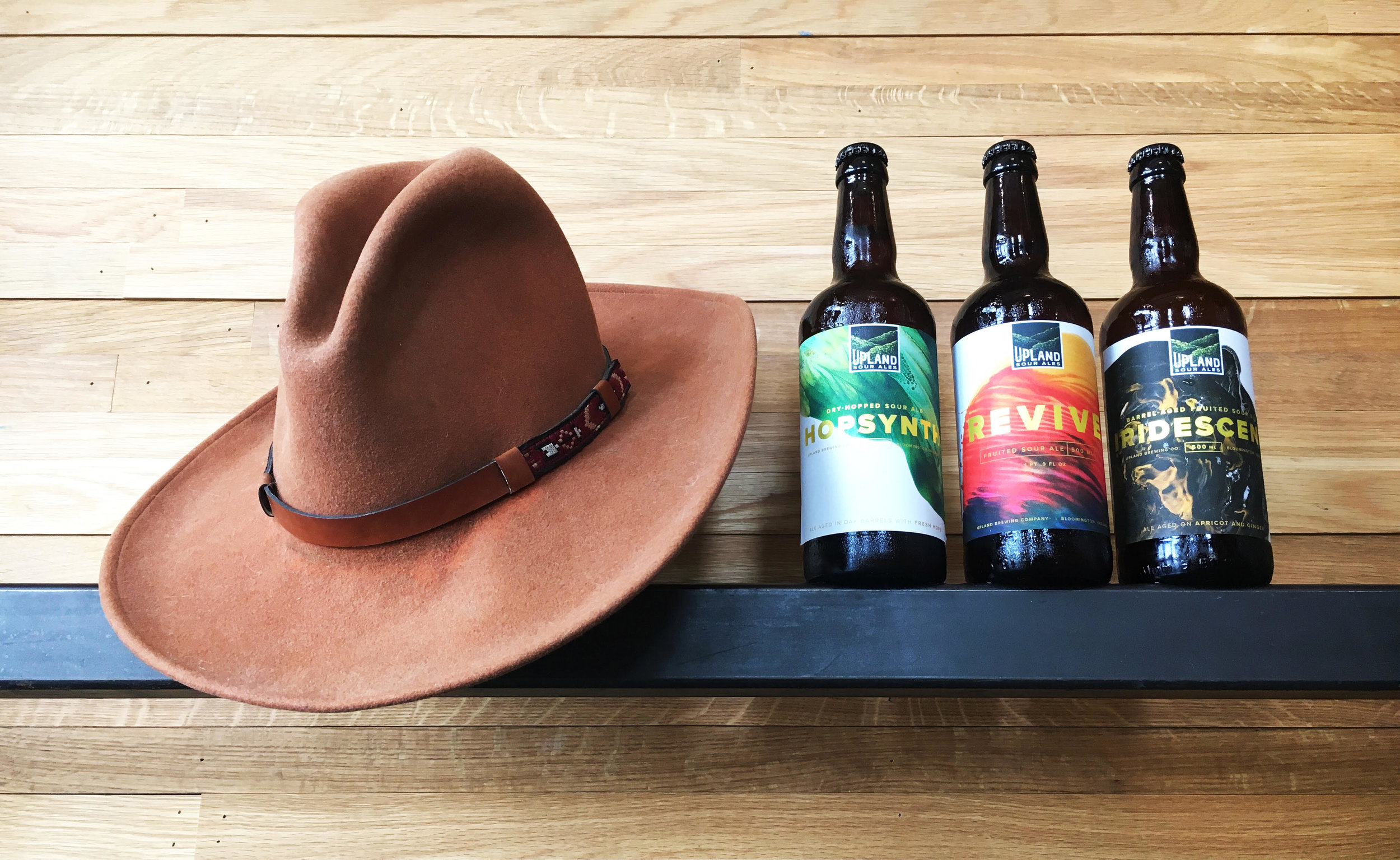 Upland Brewing Company reveals its line of sours: Hopsynth, Cherry and Iridescent. Photo courtesy of Upland Brewing Company.