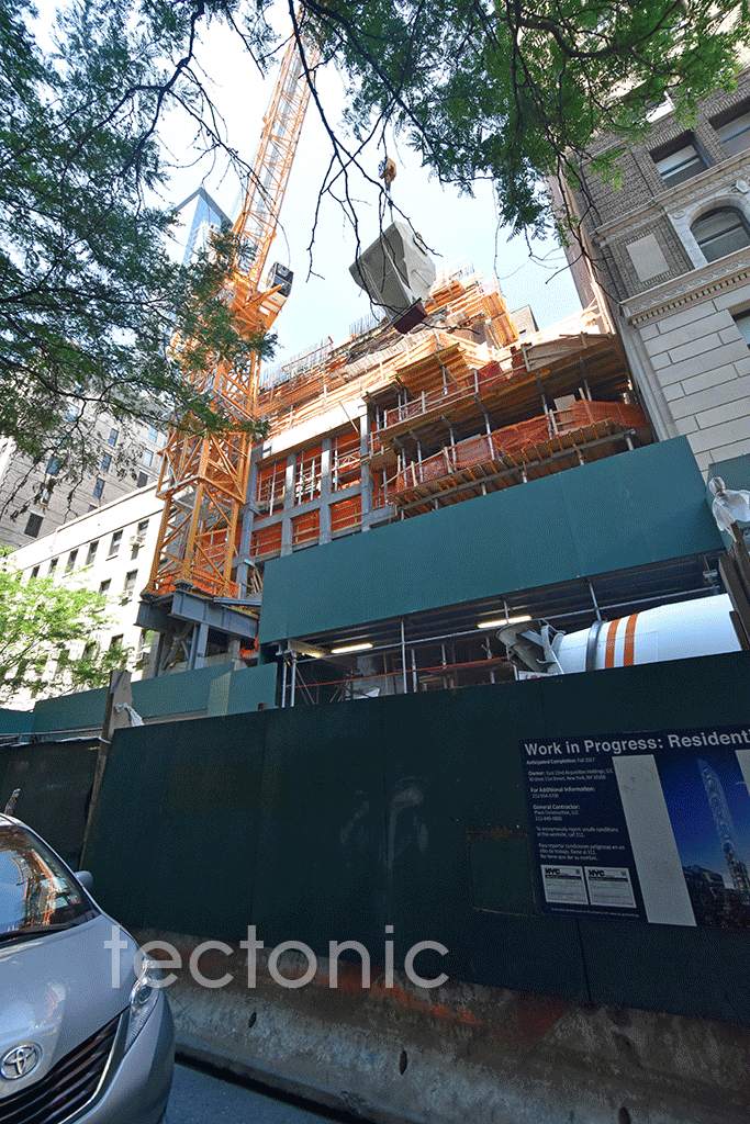 Looking up from East 22nd Street