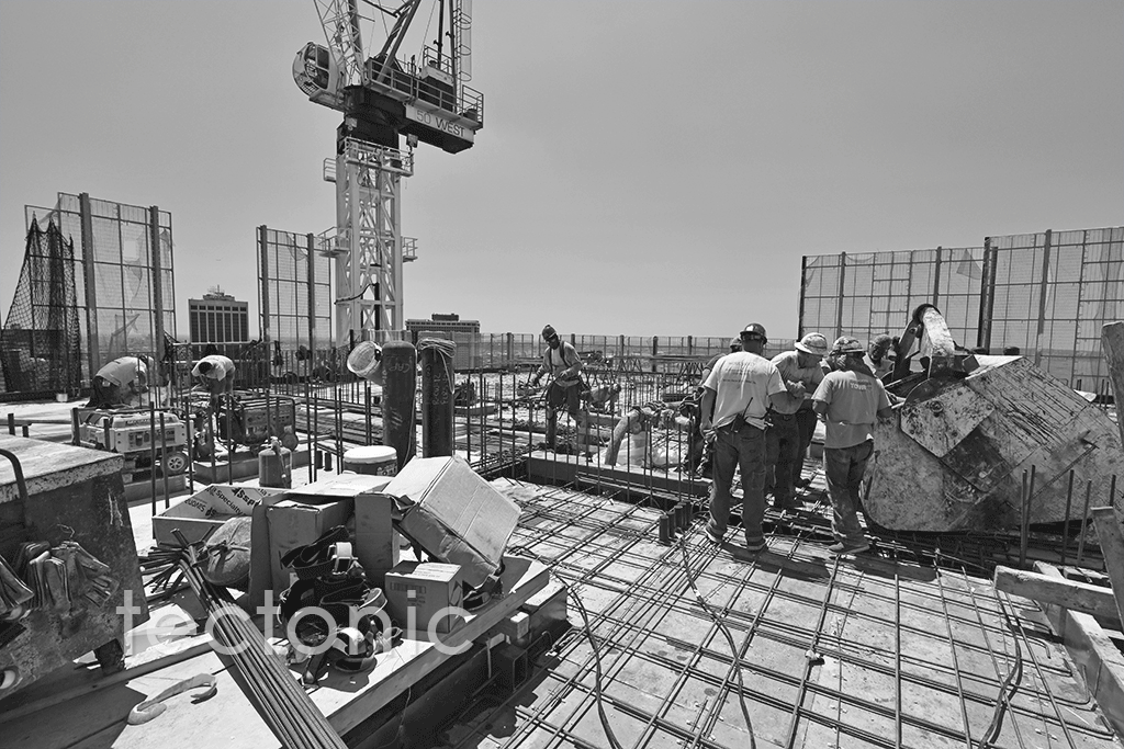 50th floor deck with the tower crane in the background