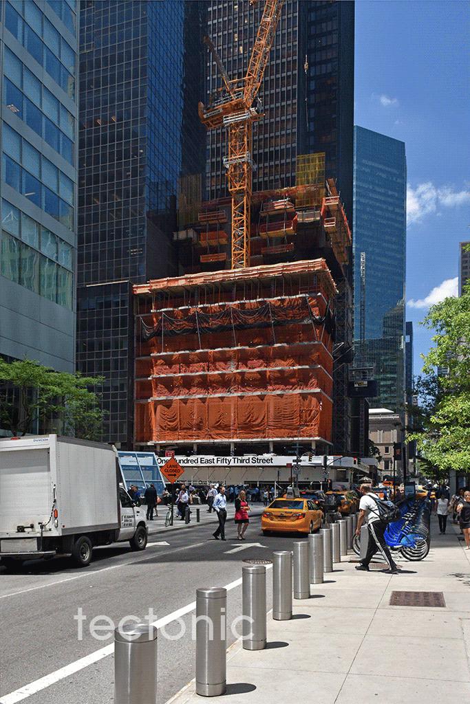 Viewed from East 53rd Street looking westward
