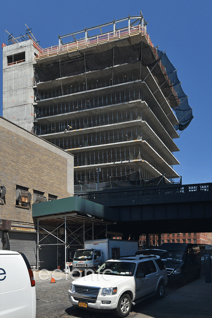 Viewed from the west along West 13th Street