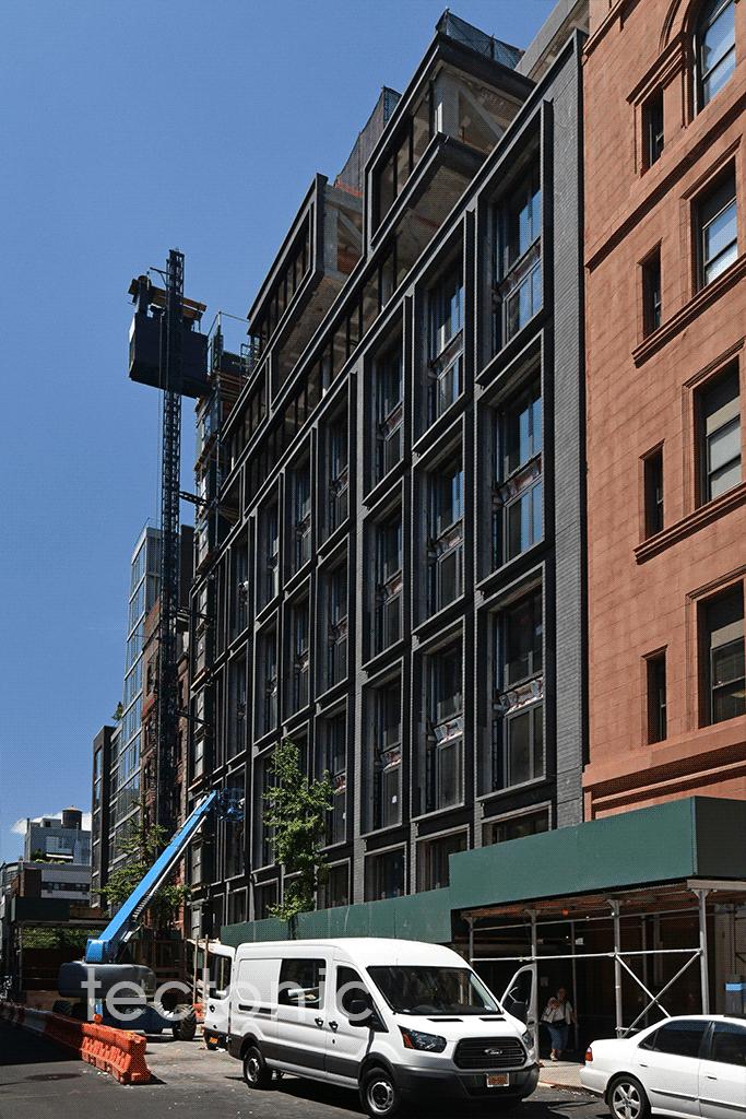 Looking westward along West 18th Street