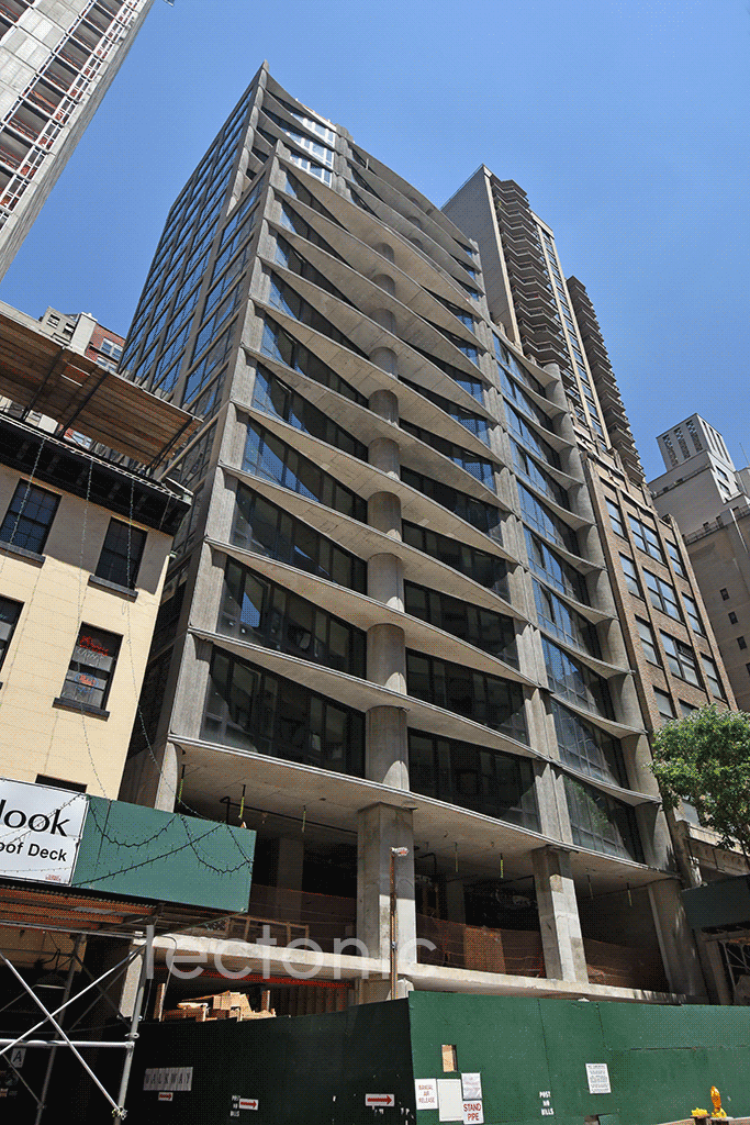 Looking up from East 44th Street