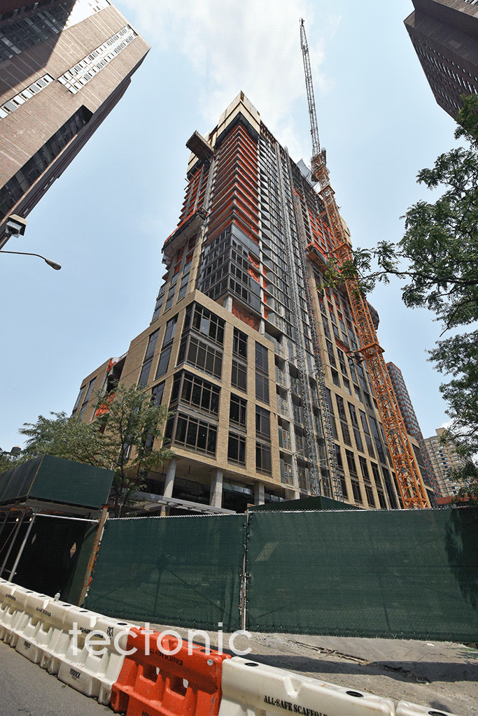 Viewed from East 92nd Street