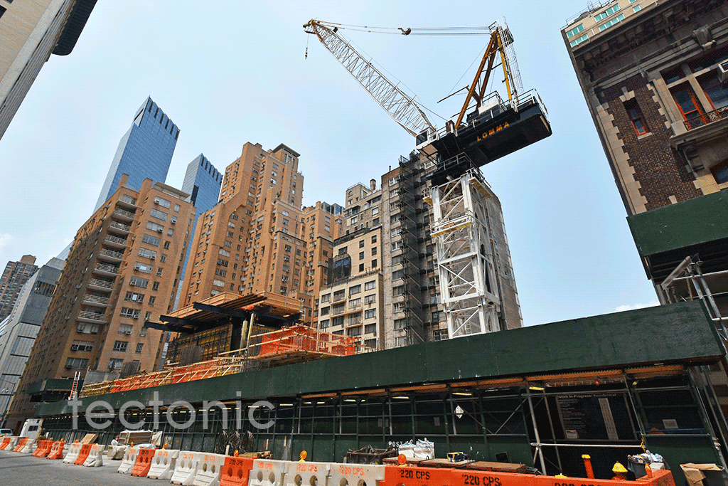 View of the site from West 58th Street