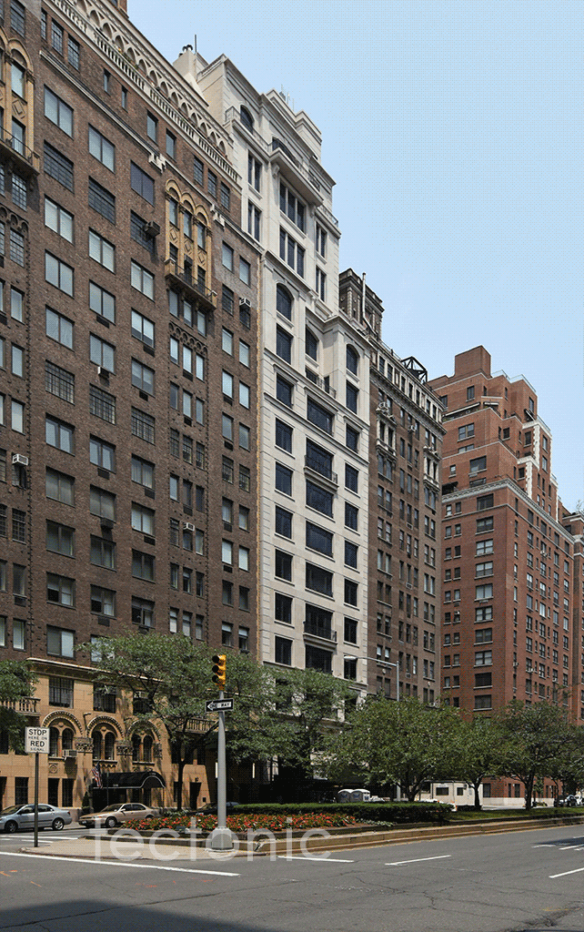 Viewed from the south along Park Avenue