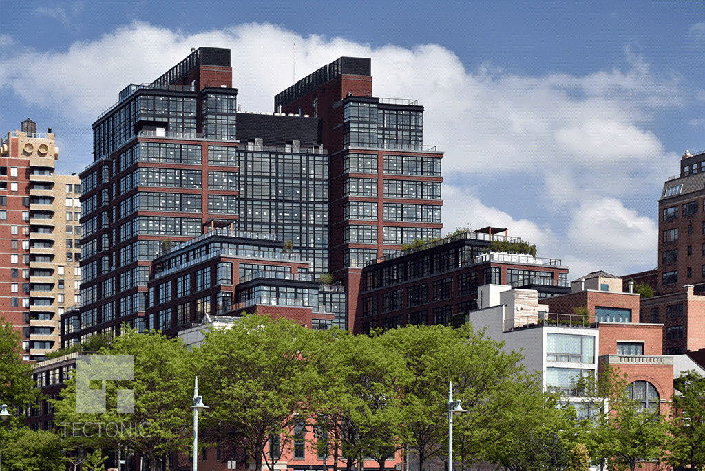 Viewed from the Hudson River Greenway